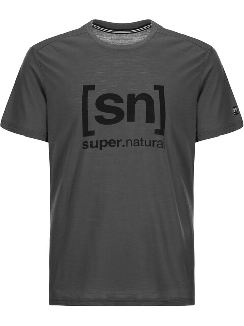 super.natural Essential I.D. T-Shirt Men Charcoal/Print